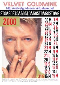 clicca per vedere il calendario di agosto 2000