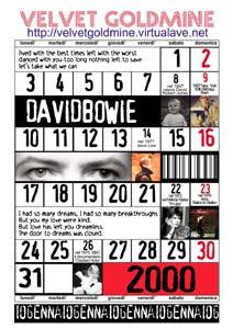 La pagina di gennaio del calendario di VG 7