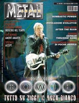 Metal shock: Bowie in copertina 1