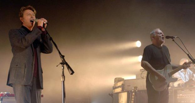 David Bowie e David Gilmour 1