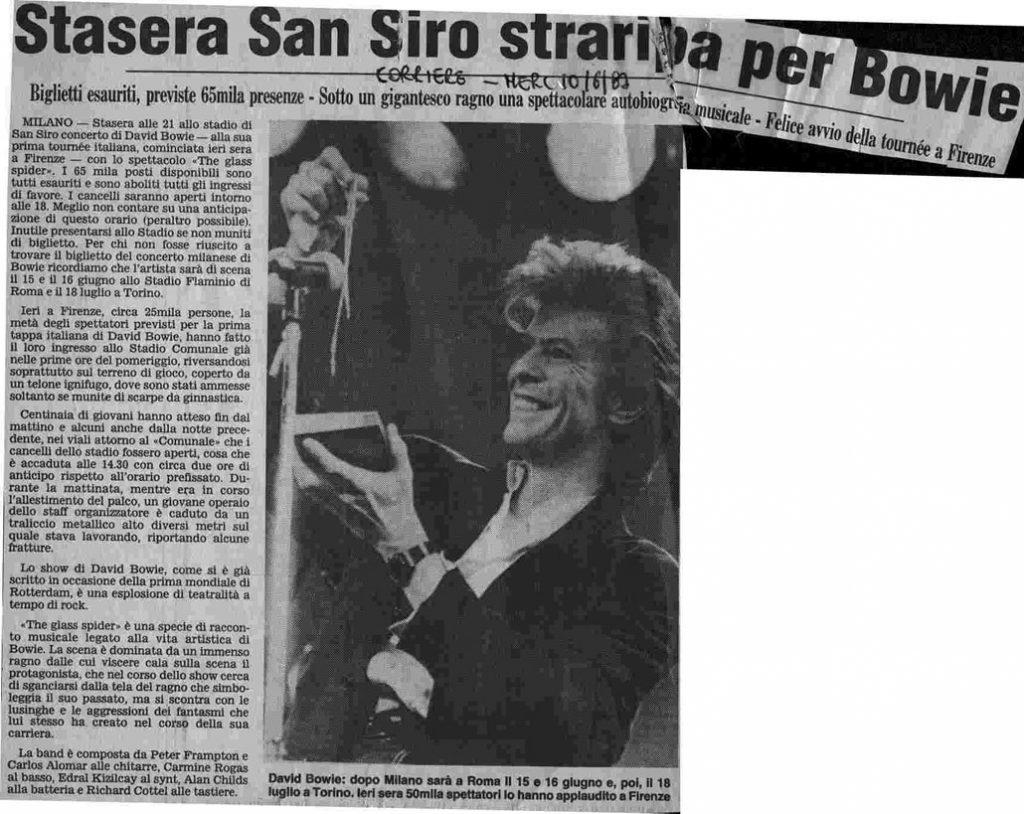 Glass Spider Milano 1987