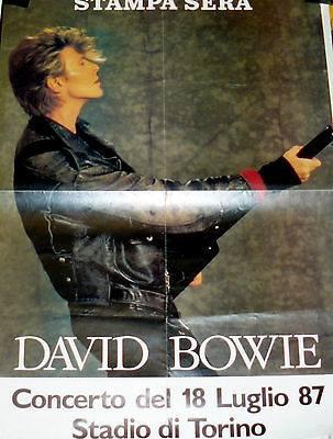 David Bowie Glass Spider Tour Torino 18 Luglio 1987 Poster