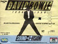 sound and vision tour milano 1990 biglietto