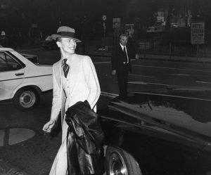 Bowie al Porto di Genova 1976 foto Archivio Il Secolo XIX