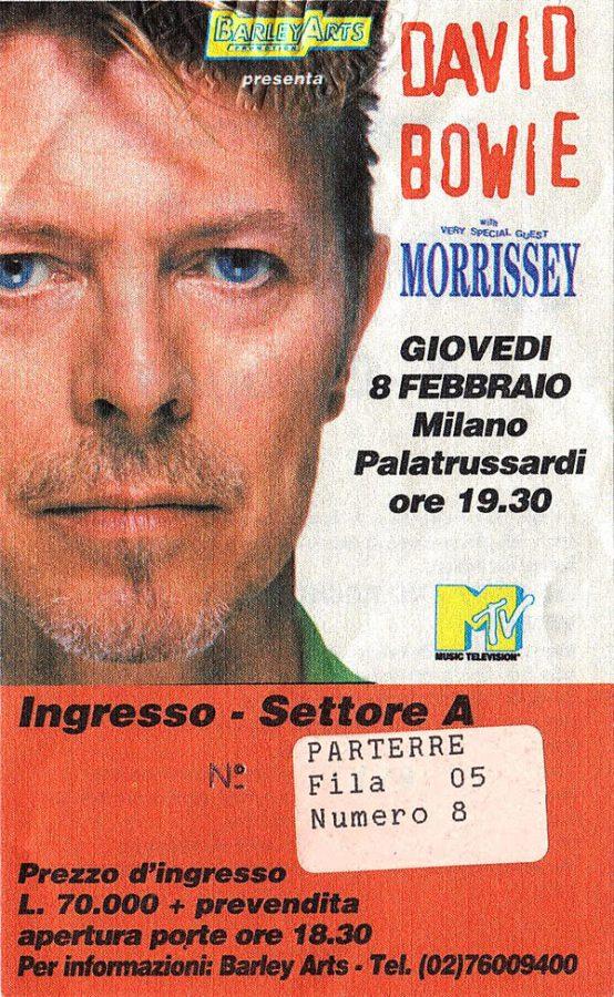 bowie outside tour milano palatrussardi 8 febbraio 1996 biglietto