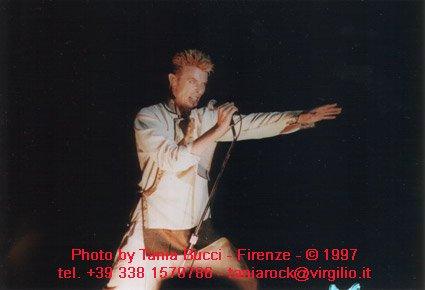 Earthling tour David Bowie Pistoia 2 luglio 1997 foto