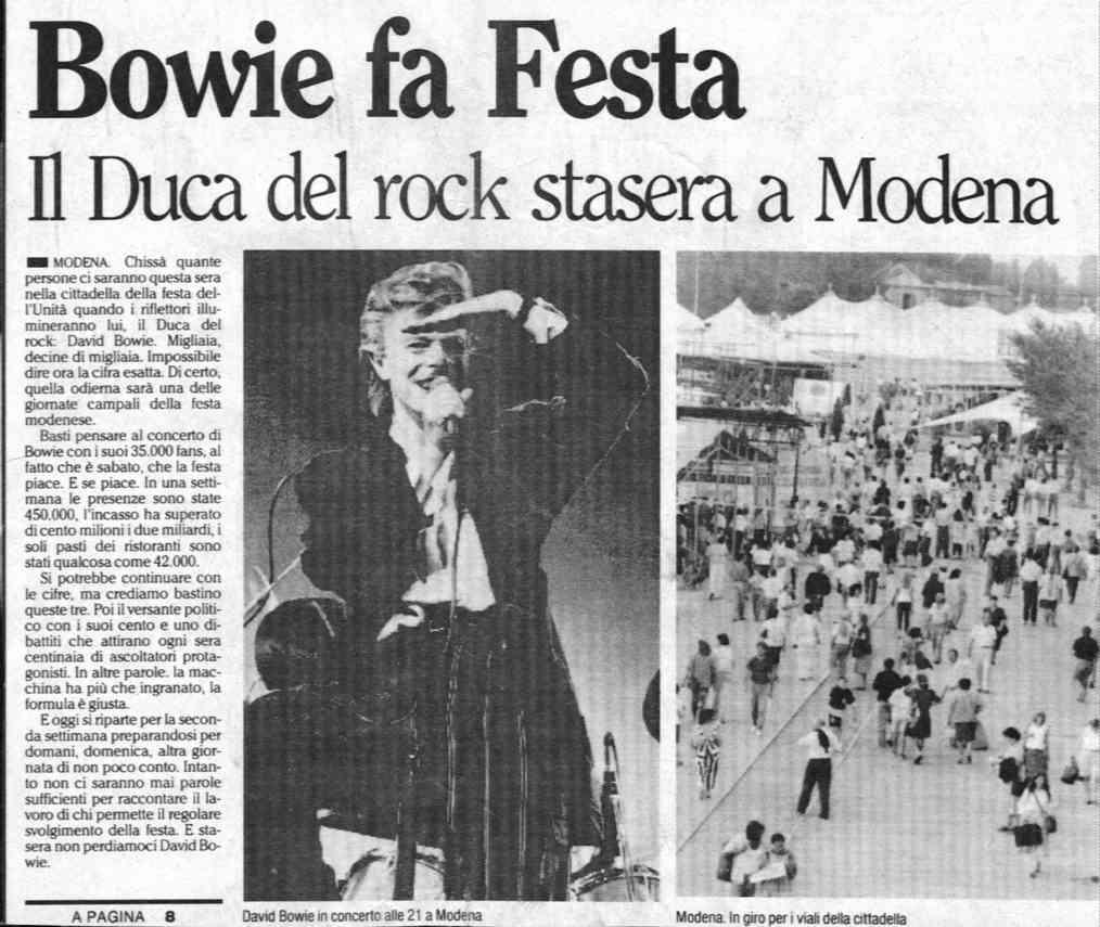 david-bowie-sound-and-vision-1990-modena 8 settembre articolo