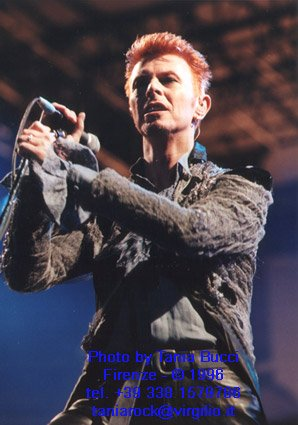 Bowie Outside Tour Roma 9 Luglio 1996 foto