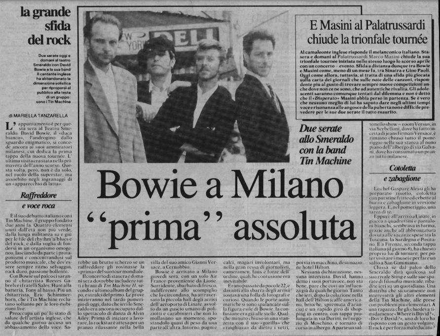 Tin Machine - It's My Life Tour - Milano, 5 Ottobre 1991 13
