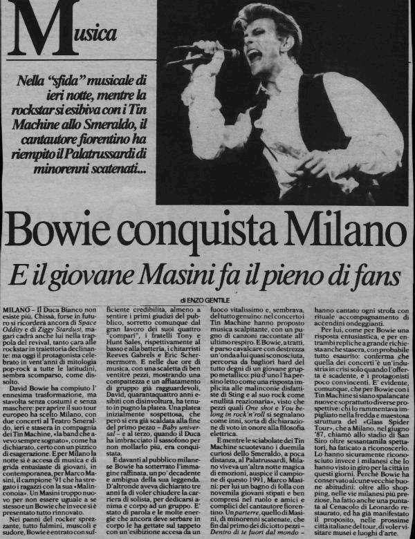 Tin Machine - It's My Life Tour - Milano, 5 Ottobre 1991 14