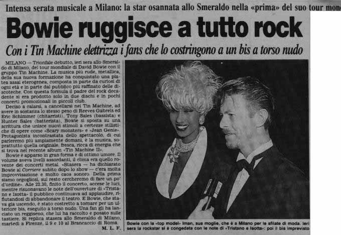Tin Machine - It's My Life Tour - Milano, 5 Ottobre 1991 15