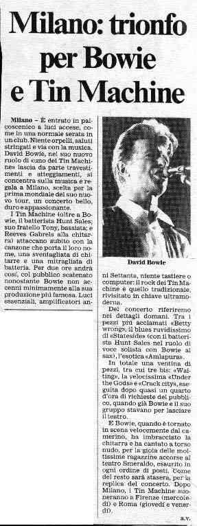 Tin Machine - It's My Life Tour - Milano, 5 Ottobre 1991 17