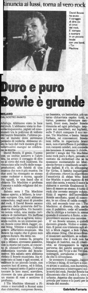 Tin Machine - It's My Life Tour - Milano, 5 Ottobre 1991 16