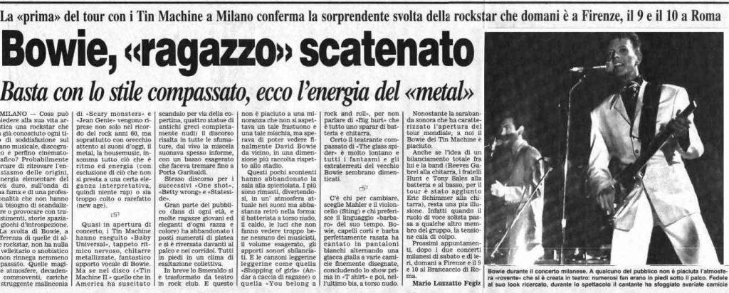 Tin Machine - It's My Life Tour - Milano, 5 Ottobre 1991 18