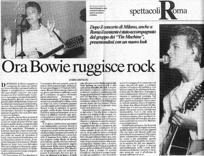 Tin Machine - It's My Life Tour - Roma, 9 Ottobre 1991 2
