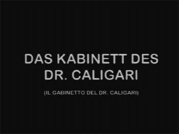 Il Gabinetto del Dottor Caligari 1