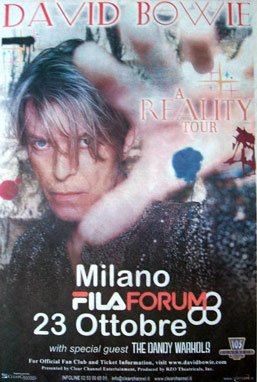 Reality Tour, Milano 23 Ottobre 2003 2