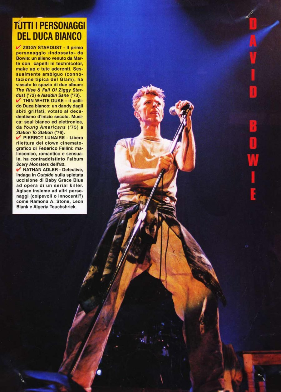 Outside Tour Stampa Bowie Tutto 1996
