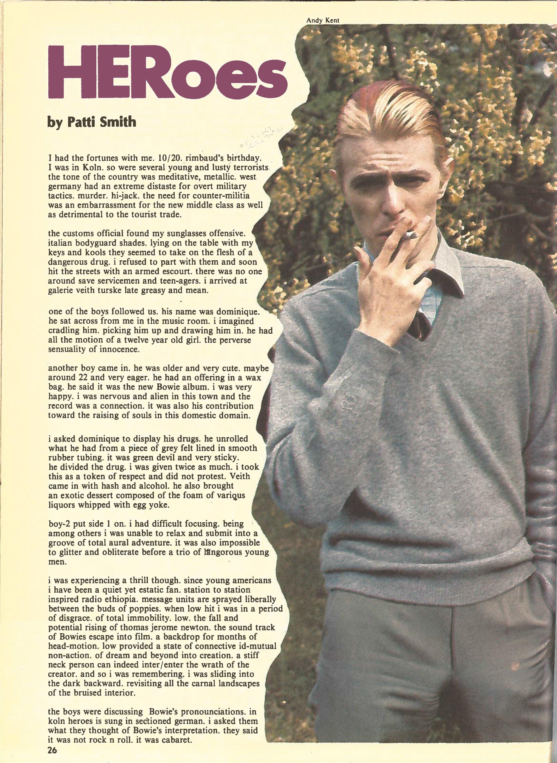 Heroes Patti Smith recensione 1978 parte2