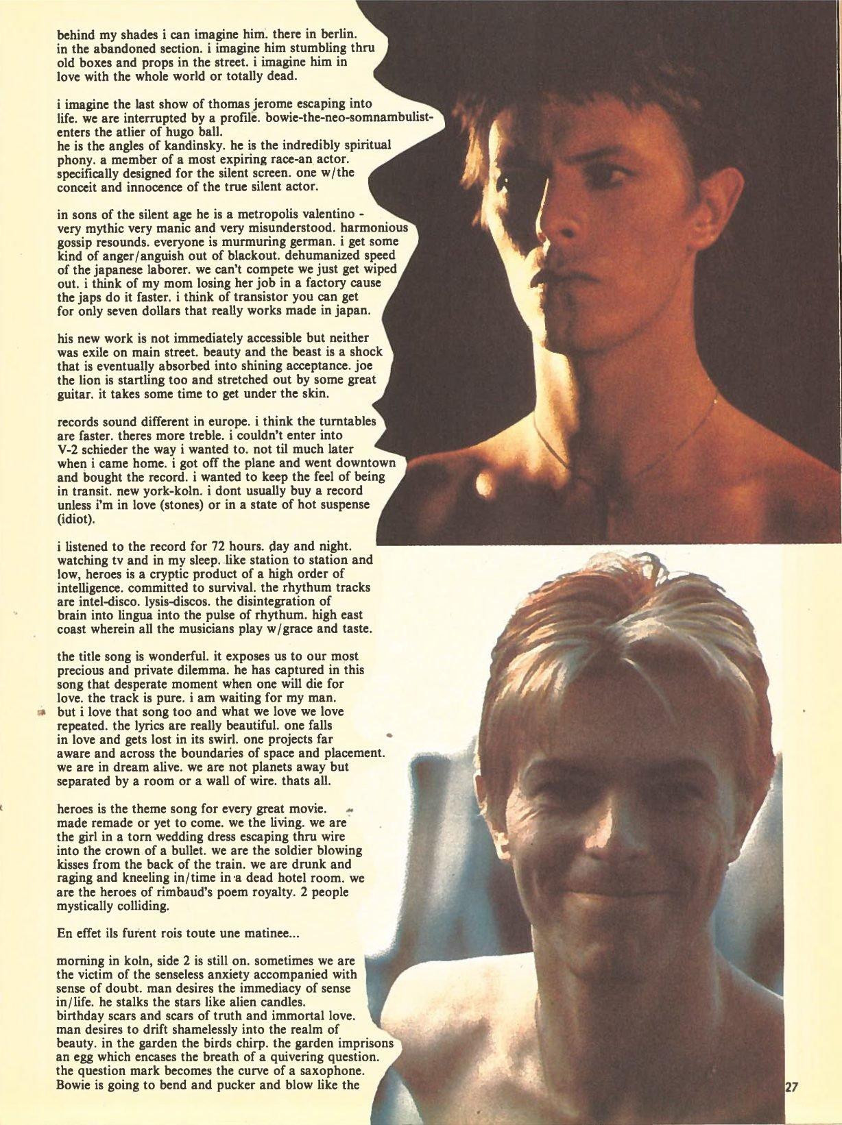 Heroes Patti Smith recensione 1978 parte3