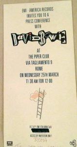 Piper Club Roma 25 marzo 1987 4