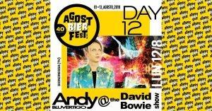 Andy White Dukes Agost Bier Fest Eventi tributo a Bowie Agosto 2019