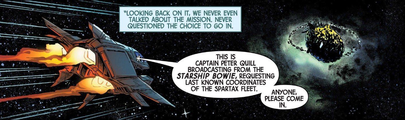 Guardiani della Galassia Starship Bowie e i fumetti