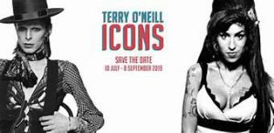 Logo Terry O'neill Icons Eventi tributo a bowie agosto 2019
