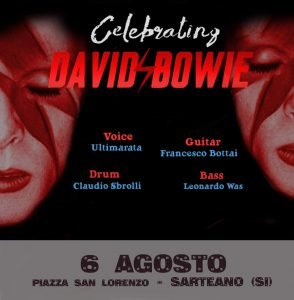 Ultimarata & Friends Sarteano Eventi tributo a Bowie Agosto 2019