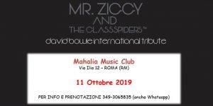 Mr. Ziggy Mahalia Roma David Bowie eventi ottobre 2019