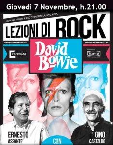 Lezioni di rock mestre Assante Castaldo Eventi novembre 2019 David Bowie