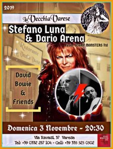 Scary Monsters Duo Varese eventi novembre 2019 David Bowie