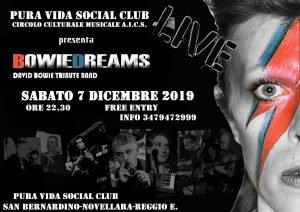 Bowie Dreams Novellara eventi dicembre 2019 David Bowie