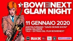 Bowienext Glamnight Roma eventi gennaio 2020 david bowie