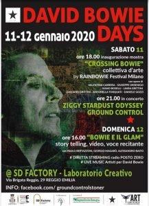 David Bowie Days Reggio Emilia eventi gennaio 2020