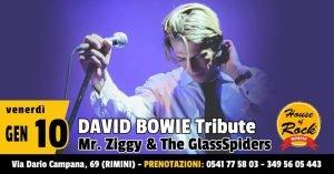 Mr. Ziggy & the Glass Spiders Rimini eventi gennaio 2020 David Bowie