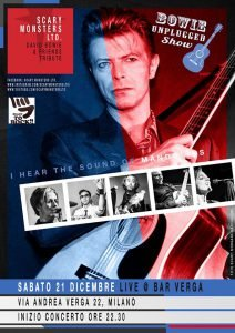 Scary Monsters Milano eventi dicembre 2019 David Bowie