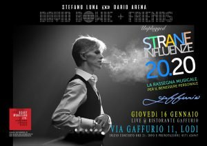 Scary Monsters Unplugged Eventi gennaio 2020 David Bowie
