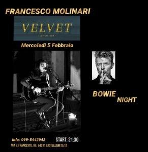 Francesco Molinari Taranto Eventi Febbraio 2020 David Bowie tributo