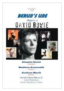 Berlins Line locandina eventi marzo 2020 David Bowie tributo