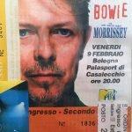Outside Tour Bowie Bologna 9 febbraio 1996 Palasport
