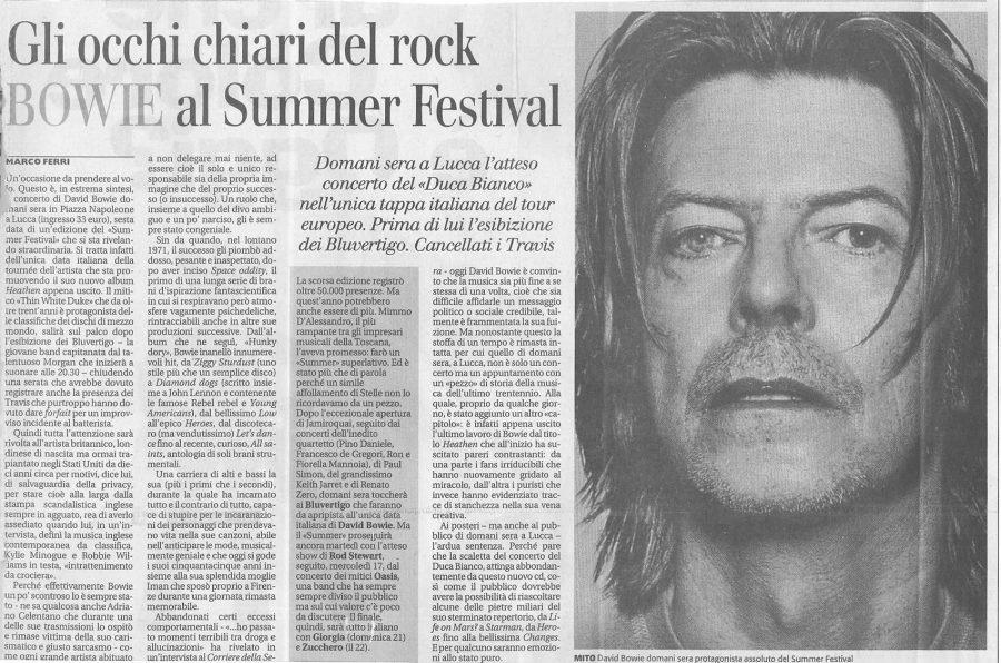 David-Bowie-Heathen-Tour-Lucca-15-Luglio-2002-Articolo-giornale-della-toscana
