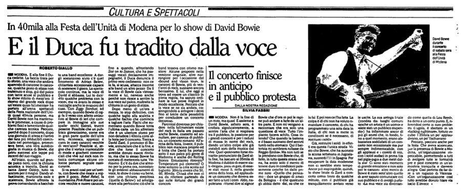 Sound and Vision Tour - Modena, 8 Settembre 1990 2