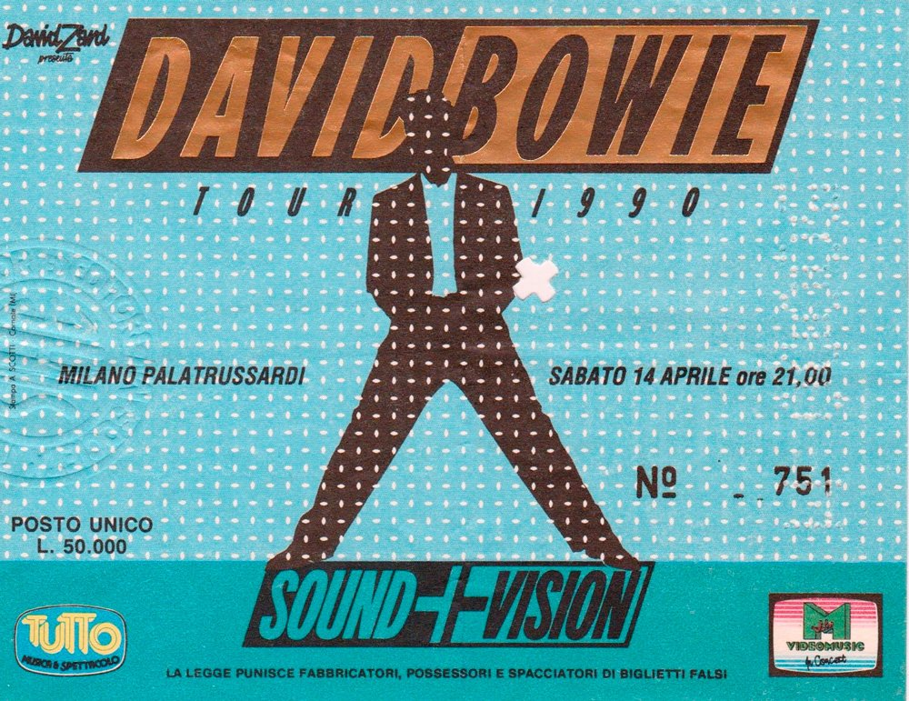 Sound and Vision Tour - Milano 14 Aprile 1