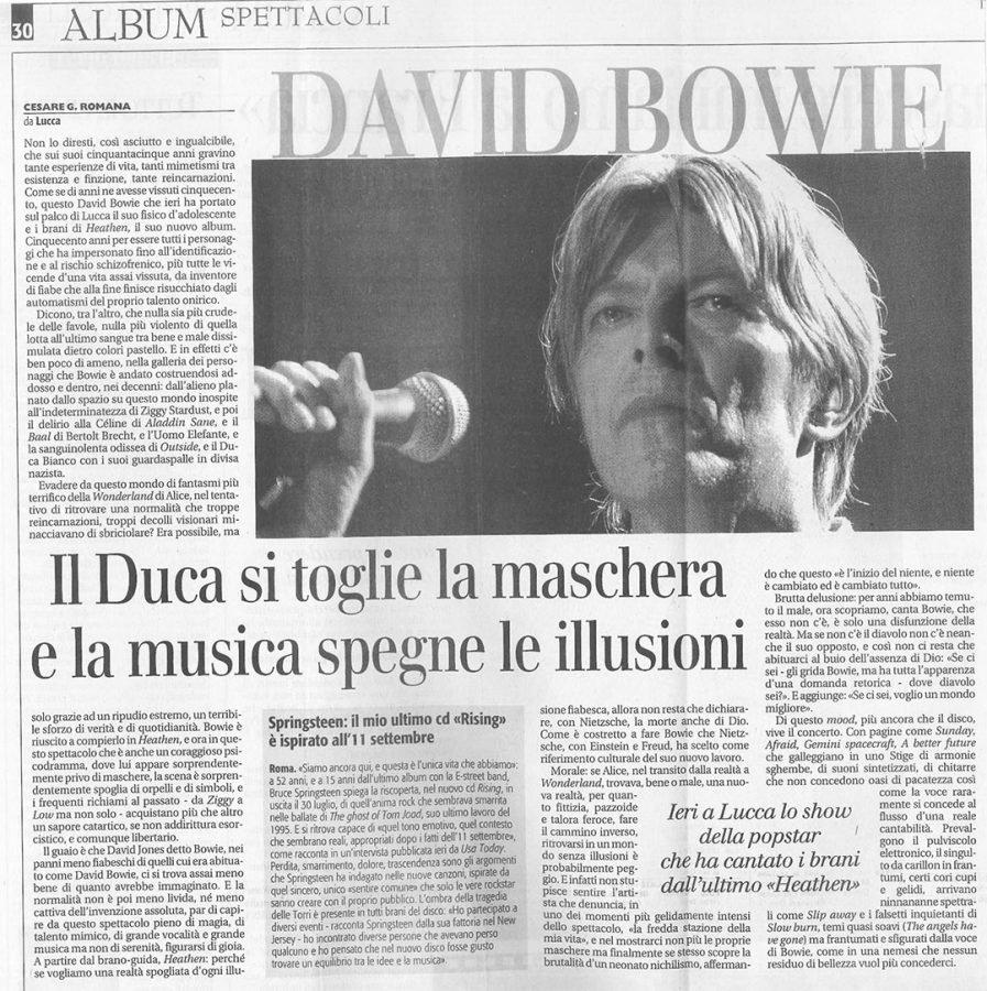 David-Bowie-heathen-Tour-Lucca-15-Luglio-2002-Articolo-Quotidiano-nazionale