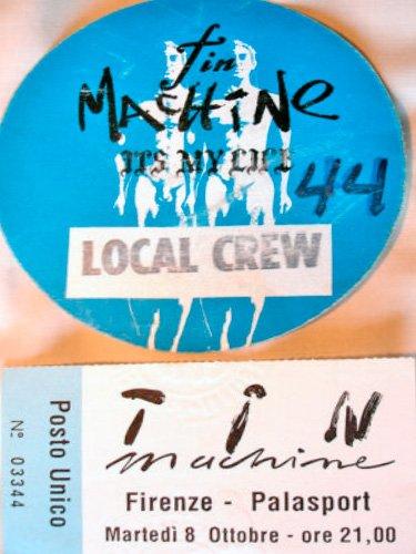 Tin-Machine-Firenze-8-Ottobre-1991-it's-my-life-tour-pass