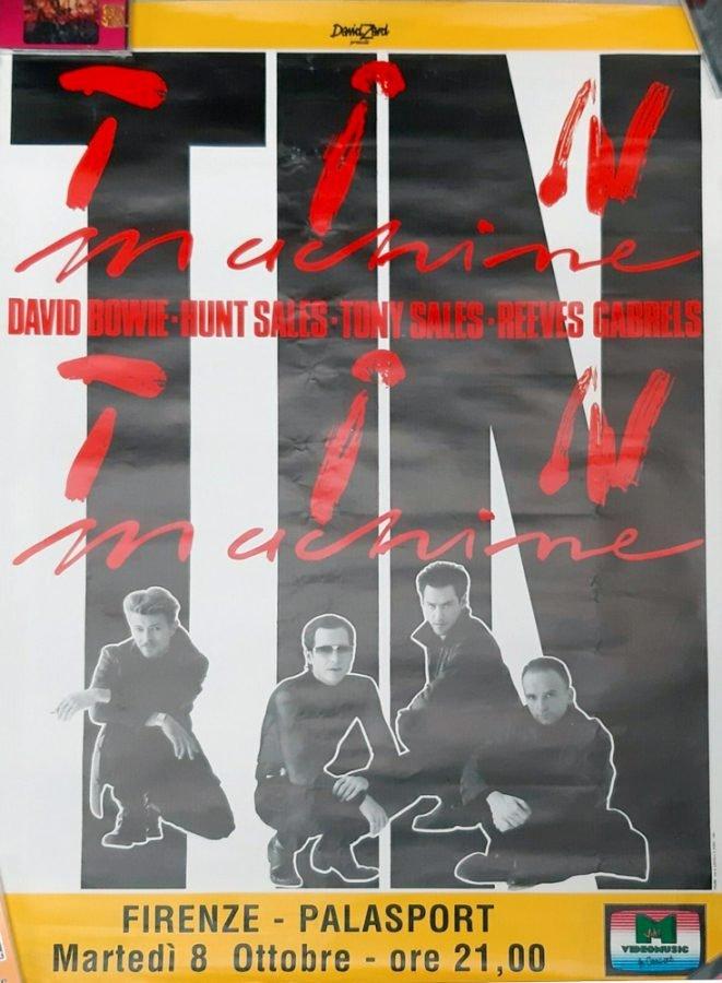 Tin-Machine-Firenze-8-Ottobre-1991-it's-my-life-tour-poster