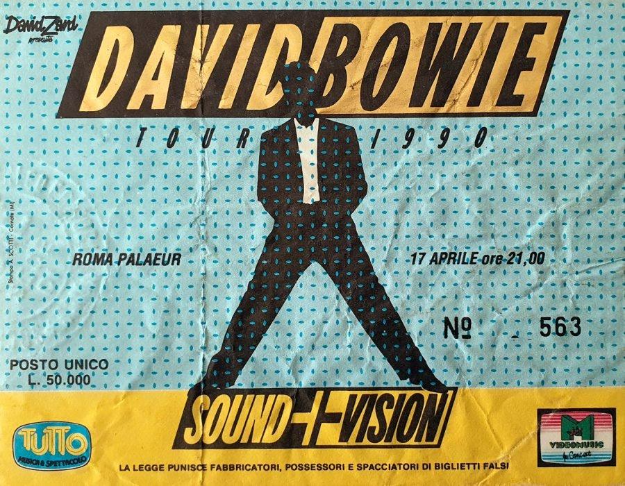 david-bowie-1990-sound-vision-roma 17 aprile 1990 biglietto