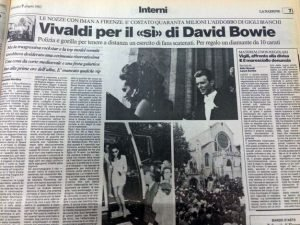 Articolo 2 nozze matrimonio firenze Bowie