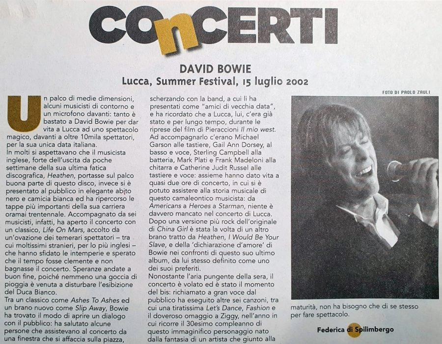 Heathen Tour, 15 Luglio 2002 2